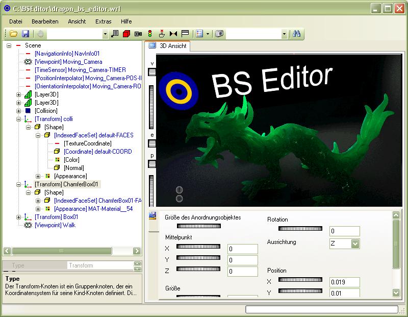 Bs Editor Bitmanagement Interactive Web3d Graphics
